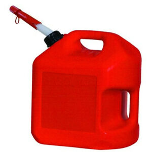 Midwest 5600 5 Gallon Red Plastic Gas Cans Containers W Spill Proof Spouts Red