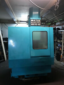 Mazak Vqc 15 40 Cnc Vmc 7 5 Hp 6k Rpm cat 40 Spindle 35 x 16 Table