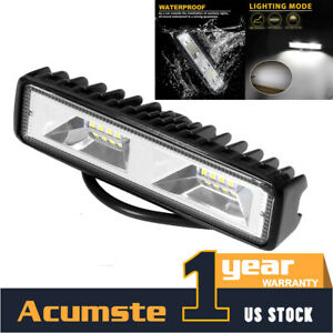 6 Led 48w 12v 24v Work Light Flood Light Off Road Atv Suv Boat For Jeep Truck