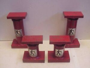 2 Pair Ingersoll Heavy Duty Machinists Jack Stands