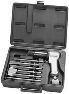 Ingersoll Rand Air Hammer W Chisel Kit 6 Different Size Air Chisel Attachment
