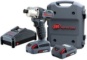 Ingersoll Rand 1 4 Mid Torque Impact Wrench W Charger 2 Batteries Kit
