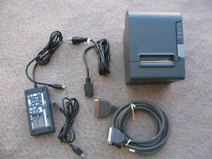 Epson Thermal Receipt Pos Printer Tm t88v M244a Usb Adapter Parallel Cable