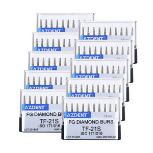 20box Dental Tf 21s Diamond Burs Super Coarse Flat Head Turbine Handpiece Azdent