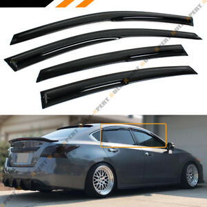 For 2013 2015 Nissan Altima Sedan Jdm 3d Wavy Window Visor Rain Guard Deflector