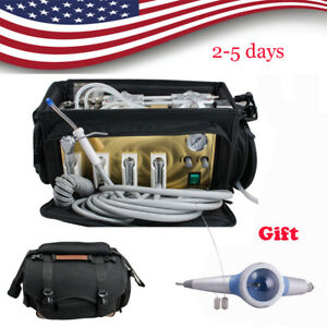 Portable Backpack Dental Turbine Unit Bag Equipment Air Compressor Suction gift