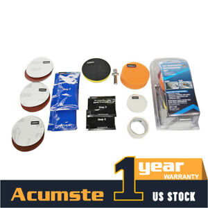 Car Headlight Lens Restoration System Repair Kit Buffing Polish Cleaner Tools