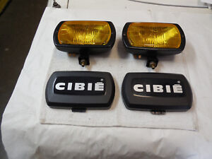 Cibie Type 95i Amber Fog Lamps Genuine Pair Complete New With Bulbs