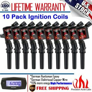 10 Pack High Performance Ignition Coil For Ford F150 Dg508 4 6l 5 4l 6 8l V8 V10