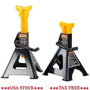 Set Of 2 4 Ton Ratcheting Jack Stands Floor Lift Car Auto Vehicle Mechanic S New