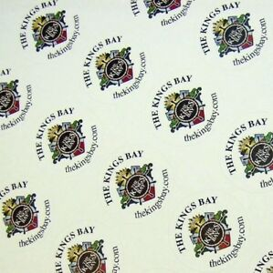 Full Color Labels Custom Printed 1 Round 5000 Business Stickers White Removable
