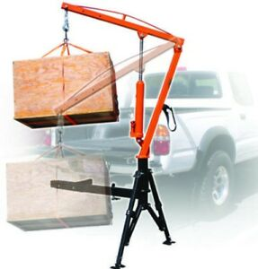 1000lb Professional Hydraulic Hitch Mounted Crane Mobile Portable Bed Hoist Lift