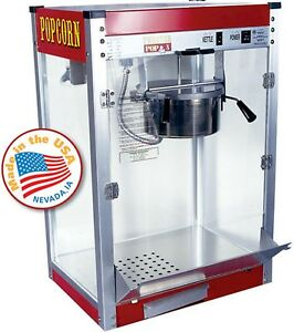 Made In Usa 8 Oz Red Classic Pop Popcorn Machine Commercial Theater Quality