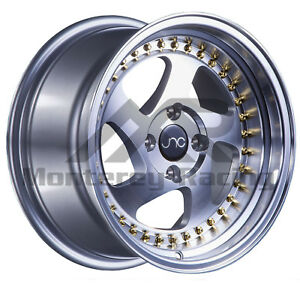 18x8 5 5x108 Jnc 034 Silver Machine Made For Ford Volvo