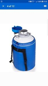 6l Liquid Nitrogen Tank Cryogenic Container Ln2 Dewar 6pcs Pails lock Cover