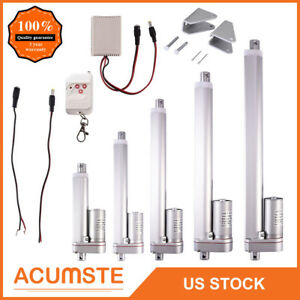 2 12 Inch Linear Actuator 12v Volt Motor Stroke 900n 225 Pound Max Lift Silver