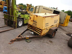 Atlas Copco Xas90 185 Cfm Air Compressor John Deere Diesel Video Trailer