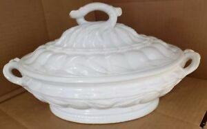 Antique White Ironstone Tureen Elsmore Forster Tunstall With Lid As Pictured