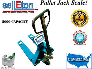 New Industrial Warehouse Truck Pallet Jack Scale With 5000 Lb Capacity X 1lb