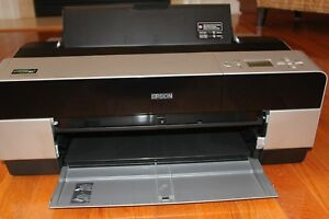 Epson Stylus Pro 3880 Large Format Printer With Ink And Manual Prints 17 X 22