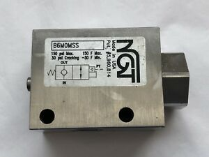 Ngt 3 8 Stainless Balanced Pilot Operated Check Valve B6m0mss