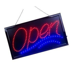 Large Led Open Sign For Business Displays Jumbo Light Up Sign 2day Delivery