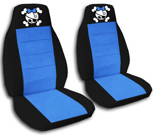 Fits 2009 2015 Suzuki Alto Front Set Car Seat Covers Girly Skull Design