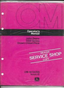 John Deere 1600 Series Drawn Chisel Plow Operator s Manual Om n159399