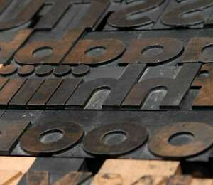 Letterpress Wood Printing Blocks 126pcs 2 68 Tall Alphabet Type Woodtype Abc