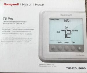 Honeywell T6 Pro Programmable Thermostat 2 Heat 1 Cool Heat Pump Or 2 Heat