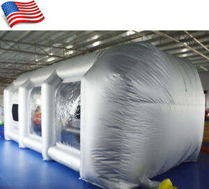 Giant Oxford Cloth Inflatable Paint Booth 2 110v Blowers Inner 16 4 6 6 6 6 Feet