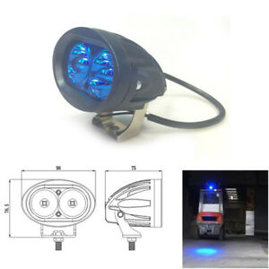 20w Cree Led Blue Spot Work Light For Motorcycle Bike Driving Headlight Forklift