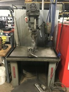 Clausing 20 Drill Press Model 2287 Stand Included 2000rpm 3 4 Capacity