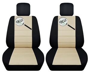 Fits 2006 2010 Ford Focus Sedan hatch Front Set Car Seat Covers With Design