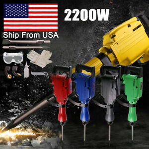 2200w Jack Hammer Electric Power Breaker Construction Heavy Demolition Punch
