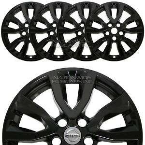 Fit 2017 19 Nissan Rogue Sv 17 Black Wheel Skins Hub Caps Full Alloy Rim Covers