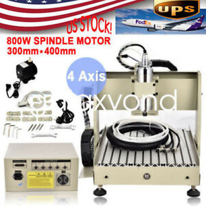 800w Usb 4 Axis Cnc 3040t Router Engraver Engraving Machine Woodworking Cutter