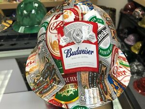 New Full Brim Hard Hat Custom Hydro Dipped Beer Sticker Bomb Free Shipping