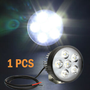 2x Motorcycle Headlight Spot Fog Lights Head Lamp White Led Front 12 80v Driving
