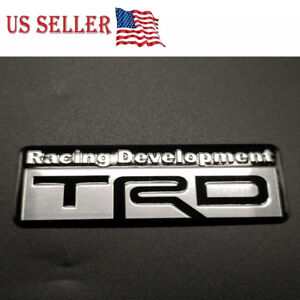 Trd 3d Car Emblem Sticker Decal Toyota Racing Development Tailgate Badge Decal