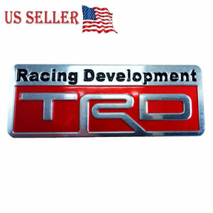 3d Metal Trd Car Emblem Sticker Badge Decal Toyota Racing Development Tailgate
