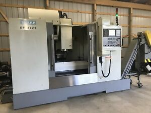 Sharp Sv4020 Cnc Vmc Thru Spind Clt Conveyor Probing 10k Rpm Mint 2008