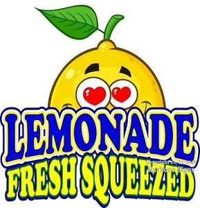 choose Your Size Fresh Squeezed Lemonade Decal Food Truck Concession Sticker
