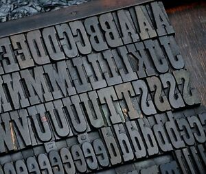 Letterpress Wood Printing Blocks 202pcs 1 77 Tall Alphabet Wooden Type Woodtype