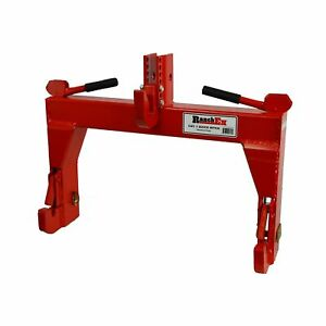 Ranchex 102850 Quick Hitch Adjustable Top Bracket Cat 1 red Meant To U