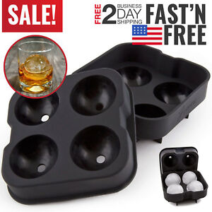 Silicone Ice Molds Trays Ice Cube Ball Round Sphere Maker Whiskey Spherical
