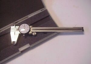 Mitutoyo 505 637 6 Machinist Stainless Steel Dial Caliper W Case Exc
