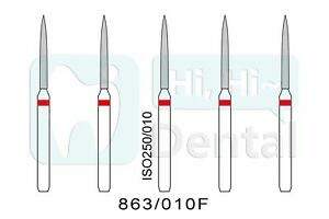 Dental Diamond Burs Fg Flame 863 010f Fine Grit High Speed 50pcs