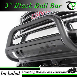 Fits 1994 2001 Dodge Ram 1500 3 Black Front Bull Bar Grill Guard W Skid Plate