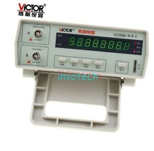 Vc2000 Frequency Counter 10hz To 2 4ghz Tester 8 digit Led Display